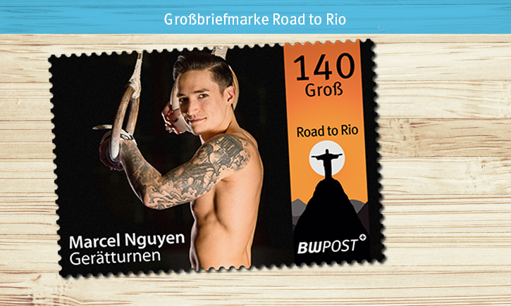 Briefmarken-Motive Holz hell RIO 140er